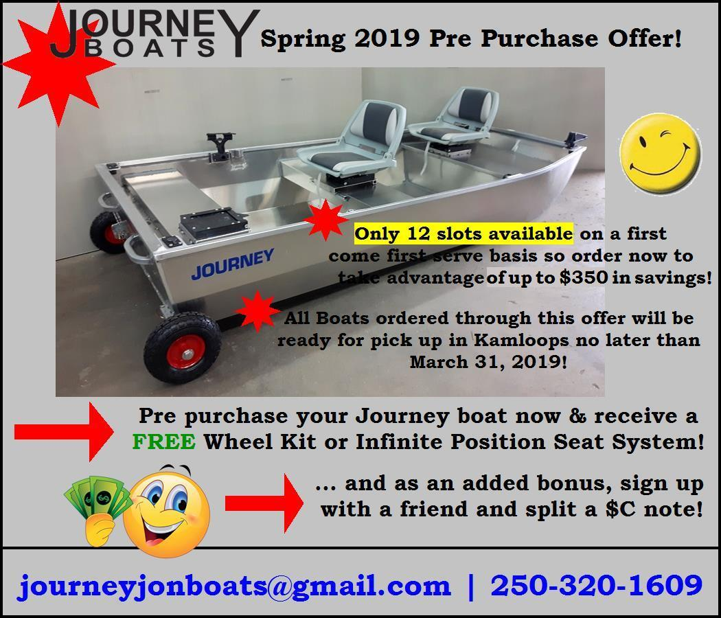 Journey Boats Spring 2019 Pre Purchase Offer