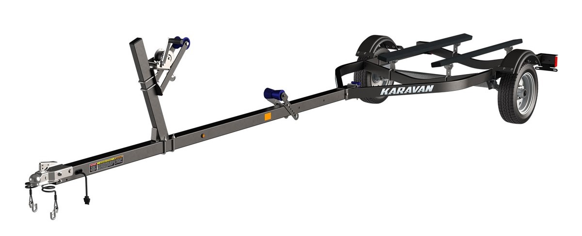 Karavan 1250 Boat Trailer - Black